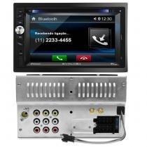 Central Multimídia Evolve+ 6,2 Pol USB SD Bluetooth Espelhamento Celular + Moldura Civic12 a 14 Pret - Prime