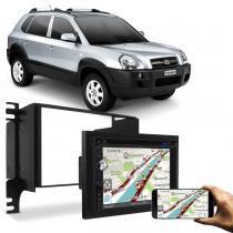 Central Multimídia Evolve+ 6,2 Pol USB SD Bluetooth Espelhamento Celular + Moldura Tucson 05 a 13 Pr - Linha Prime