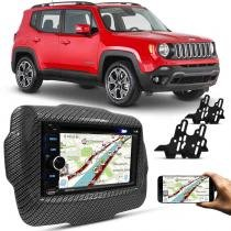 Central Multimídia Evolve Light 6,2 Pol USB SD Bluetooth Espelhamento + Moldura Carbono Jeep 15 a 17 - Prime