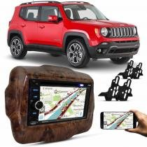 Central Multimídia Evolve Light 6,2 Pol USB SD Bluetooth Espelhamento + Moldura Madeira Jeep 15 a 17 - Prime