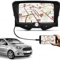 Central Multimídia Ford Ka Hatch Sedan 2014 a 2018 6 Pol Bluetooth Touch Espelhamento Android IOS - Icone