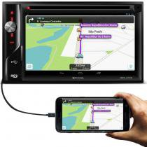 Central Multimídia Ícone MMS-U1978 2 Din 6,2 Pol Bluetooth USB DVD HDMI GPS Espelhamento Android iOS - Icone