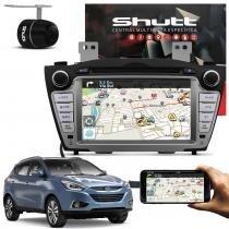 Central Multimídia IX35 2010 a 2017 Shutt DVD Espelhamento Android TV GPS USB Bluetooth Câmera Ré -
