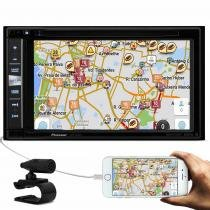 Central Multimídia Pioneer AVIC-F980TV 2 Din 6,2 Pol Bluetooth USB AUX RCA MP3 TV GPS Espelhamento - Pioneer