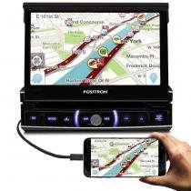 Central Multimídia Pósitron SP6520 Link 1 Din Bluetooth TV USB AUX Espelhamento Celular - Positron