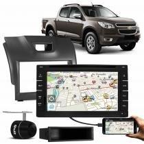 Central Multimídia Shutt 6.20 Pol TV GPS USB Bluetooth Câmera Ré + Moldura 2 Din S10 Blazer 12 a 13 - Prime
