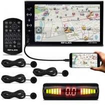 Central Multimídia Shutt Las Vegas 2 Din 6.5 Pol Bluetooth USB HDMI + Sensor Estacionamento Preto - Prime