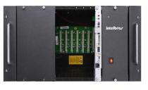 Central Telefônica Pabx Híbrida de Rack com 24 Ramais IMPACTA 300 Intelbras -