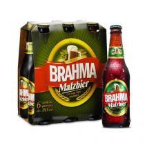 Cerveja Brahma Malzbier 355ml Caixa com 6 unidades - Brahma
