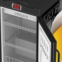 Cervejeira 100 litros preta copo taça - 220v - Preto - Venax
