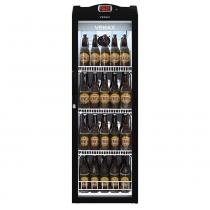 Cervejeira/Expositor Vertical Porta de Vidro 209 Litros EXPVQ Preto Fosco - Venax -
