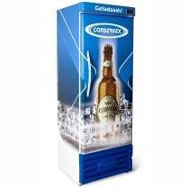 Cervejeira Vertical - 400 Litros - Adesivo Personalizado (azul) - CRV-400 - Conservex - 220V - Conservex