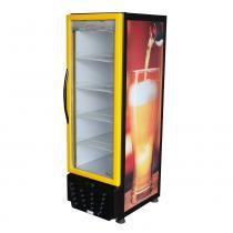 Cervejeira Vertical Refrigerada 230 Litros Frost Free Preto e Amarelo - Omega - 220V - Omega BCD