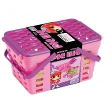 Cesta de Pic Nic Infantil Rosa/Roxo 630 - Magic Toys - Magic Toys