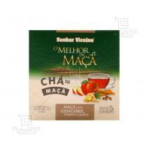 Chá de Maçã com gengibre, cravo e canela 10 sachês - Senhor Viccino - 10 sachês de 1,5g - Senhor Viccino