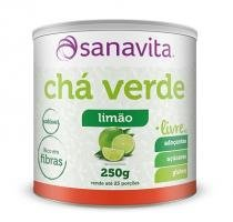 Chá Verde (Livre de Adoçantes, açúcares e glúten) - Sanavita - Limão - 250g - Sanavita