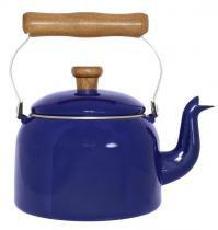 Chaleira Esmaltada 16 / 1,8 L Tradicional Azul Ewel com 2 - Comprenet