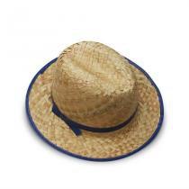 Chapéu Caipira de Palha Italiano - Azul - Festabox