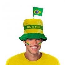 Chapéu Cartola Alta Bandeira Brasil CP208 - Festabox