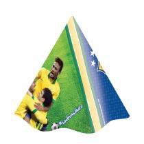 Chapéu de Aniversário CBF Brasil 2014 08 unidades Festcolor -