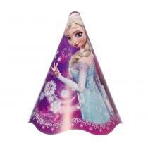 Chapéu de Papelão Descartável Frozen Disney Pacote com 8 Unidades Regina -