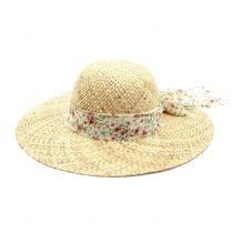 Chapéu de Praia com Faixa Floral - Bijoulux