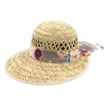 Chapéu tipo Viseira com Faixa Floral - Bijoulux