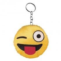 Chaveiro de Pelúcia Emoji Piscadinha  7 CM Antialérgico e Atóxico - Zoomania