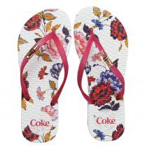 acffc536a Chinelo Coca Cola Golden Bloom Branco/Pink CC2701 -