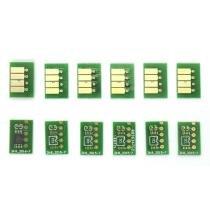 Chip full para cartucho recarregável hp t610, t620, t770, t1100 e t1120 (jogo com 6 chips) - Visutec