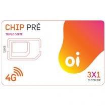 Chip Oi 3 em 1 Pré - DDD 48 SC Tecnologia 4G
