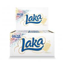 Chocolate Branco Laka 20g c/20 - Lacta -