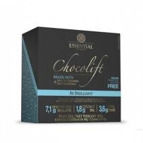 Chocolate Proteico CHOCOLIFT BE BRILLIANT - Essential Nutrition - Display c/ 12 Barras (Brazil Nuts) - Essential Nutrition