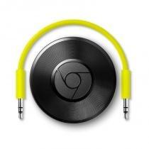 Chromecast Áudio Bivolt Preto com Entrada RCA 3,5mm e Ótica - Google