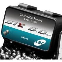 Chumbinho CBC 6.0mm 100 Unidades - Pointed Six 6,0