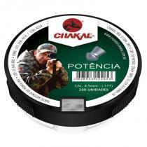 Chumbinho de espingarda potência 4.5 com 200 - Chakal