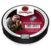 Chumbinho de espingarda potência 6 mm com 100 - Chakal