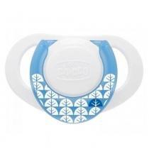 Chupeta de Silicone - Compact - Tam 1 - Azul - Chicco -