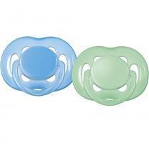 Chupeta FreeFlow Azul/Verde 2 Peças - BPA Free - 6 a 18 Meses - Philips Avent - Philips Avent
