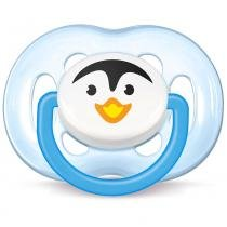 Chupeta Freeflow Pinguim Azul/Branco 6 a 18 Meses - Philips Avent - Philips Avent