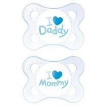 Chupeta mom e dad boys 0-6 meses mam 2931 2 unidades -