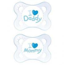 Chupeta mom e dad boys 0-6 meses mam 2931 2 unidades - Mam