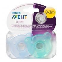 Chupeta Soothie Meninos Azul e Verde Avent (de 0 a 3 meses) - 2 unidades - Avent