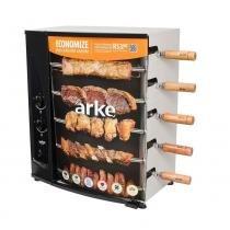 Churrasqueira a Gás Rotativa 5 Espetos Arke AGR-05 -