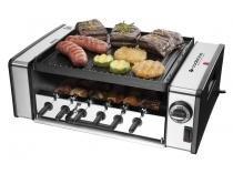 Churrasqueira Elétrica Cadence 1200W Inox - 6 Espetos Coletor de Gordura Automatic Grill