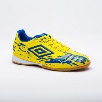2c6b0273298 Chuteira Futsal Umbro Accuro ll Club Masculino - Amarelo Azul -
