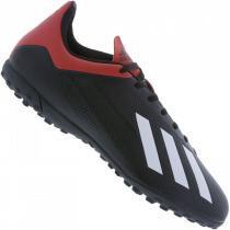 ca22bc163c Chuteira Society Adidas X 18 4 TF - Preto e Vermelho - Masculino -