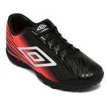 6d51aa2603 Chuteira Umbro Society Hit Preto Coral Branco OF71087 -