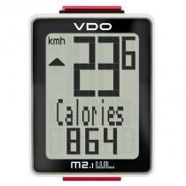 Ciclocomputador VDO sem fio para Bike 10 Funções M2.1 Branco -