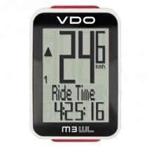 Ciclocomputador VDO sem fio para Bike 12 Funções M3 Branco -